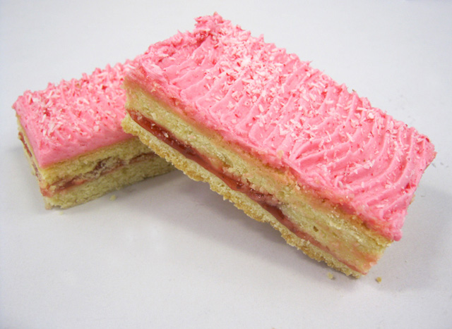 Old Fashioned Raspberry Coconut Slice
